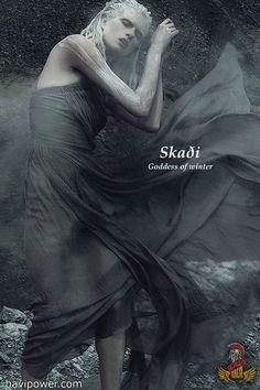 SKADI ~ Goddess of winter in Norse mythology World Mythology, Greek Mythology, Norse Mythology Goddesses, Winter Goddess, Les Runes, Fantasy Names, Norse Vikings, Asatru, Gods And Goddesses