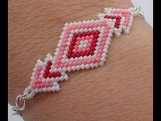 Brick Stitch Diamond Bracelet - Must Know Monday 1/15/18 - YouTube
