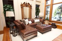 Elements Corsario 2 Piece Top Grain Leather Sectional with Right Arm Facing Sofa and ... | www.hayneedle.com