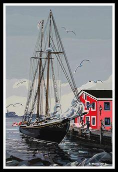 Bluenose Photograph by Allison Murray Richmond Hill, Framed Prints, Canvas Prints, Nova Scotia, Sailing Ships, Digital Art, Photograph, Tapestry, Boat