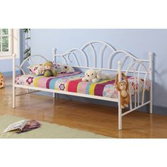 Twin Metal Daybed, White...he will have his room and I will have mine.