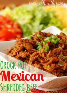 Crock Pot Mexican Shredded Beef
