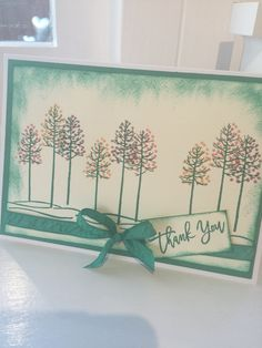 Gorgeous card inspired by Nancy Novac using Stampin Up Thoughtful Branches stamp set ;-) oh my goodness I love it xx