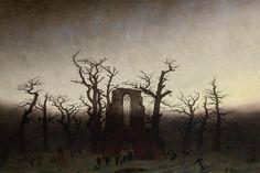 """Abtei im Eichwald"" Caspar David Friedrich"