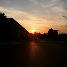 On My Way...  #slovaki #sunset #sundown #street instagram: adamkuvarga