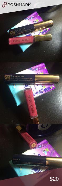 ESTEE LAUDER PURE COLOR Gloss & Lifting Mascara 🎁 Brand New!  ESTEE LAUDER PURE COLOR Gloss (33 orchid passion) 4.6ml + Sumptuous Bold Volume Lifting Mascara (01 black) 2.8ml Estee Lauder Makeup Mascara