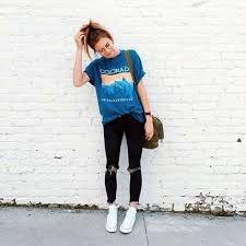 www.theflatlay.com // #flatlay #flatlays #flatlayapp #jacket #highwaisted #black #babyblue #blue #trendy #ootd #fashionaddict #outfit #style #fashionable #womens #fashionstyle #rippedjeans #converse #bag #purse