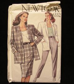 Items similar to Simplicity New Look Pattern Misses Jacket, Skirt, Pants- Size - UNCUT on Etsy New Look Patterns, Vintage Sewing Patterns, Vogue, Trending Outfits, Etsy, Fashion, Moda, Fashion Styles, Fashion Illustrations