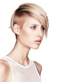 undercut hairstyle for blonde women 2015 Pompadour Hairstyle, Undercut Hairstyles, Woman Hairstyles, Shaved Hairstyles, Badass Haircut, Short Hairstyles 2015, Short Haircuts, Shaved Undercut, Hairstyles
