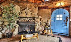 Love blue doors, I have wanted my kitchen doors this blue & my garden shed.  ~Deborah  Montecito California artists retreat. Kristin Renee