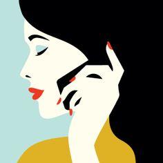 Illustrations by malika favre Art And Illustration, Illustration Design Graphique, Art Graphique, Illustrations And Posters, Retro Kunst, Retro Art, Malika Fabre, Modern Pop Art, Belle Photo