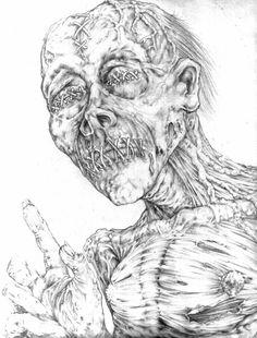 Zombie Sketch Art   zombie sketch by ~ the-vandyl