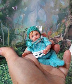 OOAK  polymer clay art baby  doll 3.1'  handmade by Natalya Kovaleva   Куклы и мягкие игрушки, Куклы, Изготовленные в единственном экземпляре   eBay!