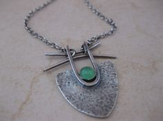 Sterling Silver Necklace with Artisan Pendant by StrawberryFrog