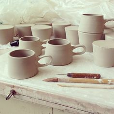 Paper & Clay - mugs in progress