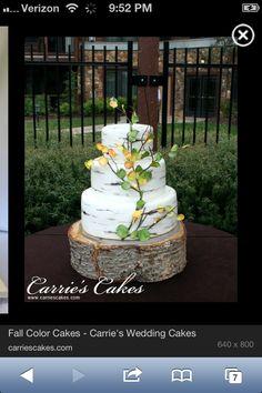 Summer Nature wedding cake