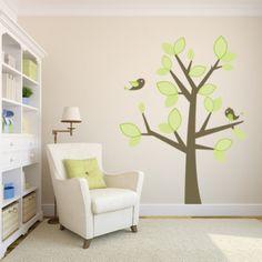 Adesivo decorativo para decoração, modelo Árvore com passarinhos I