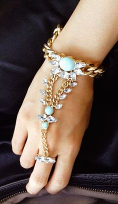 Bejeweled hand chain