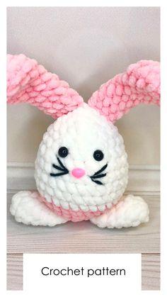 Easter Crochet Patterns, Crochet Patterns Amigurumi, Crochet Dolls, Knit Crochet, Handmade Ideas, Handmade Toys, Crochet Octopus, Photo Processing, Amigurumi Toys