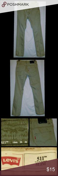"Boys Levi's 511 jeans Levi's 5 pocket  511 skinny jeans.  Perfect condition.  12 regular 26"" inseam Levi's Bottoms Jeans"