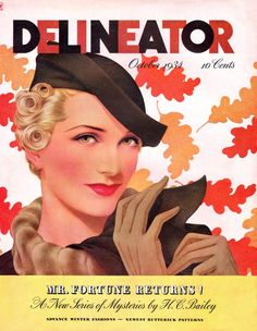 Collectibles Other Collectible Ads 1934 Delineator Magazine Front Cover Only Pretty Woman Gloves Hat