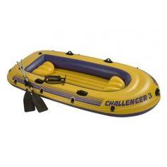 Intex Schlauchboot-Set Challenger 3 Art.68370  Kurzübersicht Intex 68370 Schlauchboot-Set Challenger 3 295 x 137 x 43 aufblasbarer Boden für extra Comfort Bostonventil für schnelles Aufblasen und Ablassen der Luft Rundumhalteleine und Haltegriff aufblasbare Sitzkissen Ruderhalterungen mit angeschweißten Ruderdollen inklusive