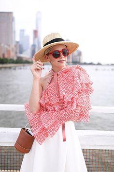 d6723d4d Top: Rosie Assoulin (shop more Rosie sale here). Skirt: C/