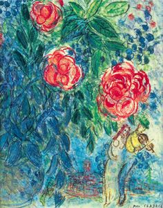 Marc Chagall, Flowers and Lovers on ArtStack #marc-chagall #art
