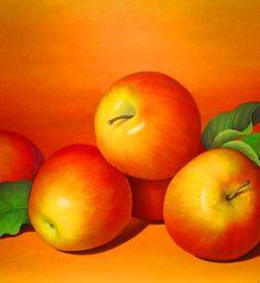 bodegones al oleo frutas pintadas