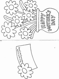 Print Printable Mother's Day Card coloring page & book. Your own Printable Mother's Day Card printable coloring page. With over 4000 coloring pages including Printable Mother's Day Card . Mothers Day Coloring Sheets, Coloring Pages For Kids, Coloring Books, Free Coloring, Colouring, Kids Coloring, Mothers Day Crafts For Kids, Fathers Day Crafts, Happy Mothers Day