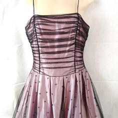 b838e14f8b3 Pretty in Pink Prom Homecoming Formal Dress - Floor Length Pink and Black  Features  1990s