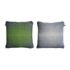 Two Side Gradient // Green-Grey Cushion Cover by Simon Key Bertman, $79 !!