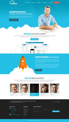 Nimbus Accounting Design by shoahmed #webdesign