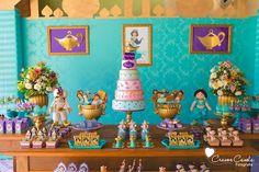 Dessert tablescape from a Princess Jasmine Birthday Party via Kara's Party Ideas KarasPartyIdeas.com (23)