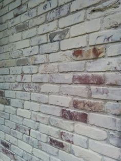 Lime wash / White wash on 100 year old brick, detail section. Located in Vinings Georgia on Paces Ferry Rd.