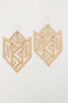 Gold Shield Earrings from the Mint Julep Boutique $14