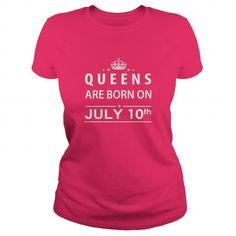 I Love Born July 10 Queen Shirts TShirt Hoodie Shirt VNeck Shirt Sweat Shirt for womens and Men Shirts & Tees