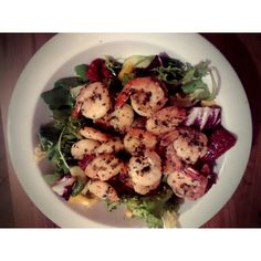 shrimps salad yummy!