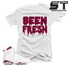 Shirts match Jordan 6 maroon retro 6's sneaker tees.