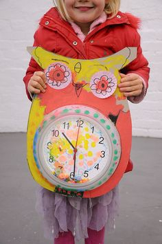 Paper Owl Clocks from Hand Made Love