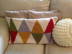 Ravelry: Project Gallery for Scandi cushion pattern by Kath Webber