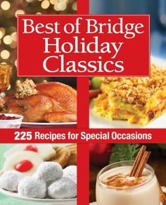 The definitive collection of holiday recipes from the ladies of Best of Bridge.  As always, the ladies promise you simple recipes with gourmet results for Cocktail Parties, Holiday Brunches and Lunches, Buffet and Pot-Luck Parties, and Sit Down Holiday Dinners. Recipes for Holiday Cookies and Squares, Desserts and Other Sweet Treats, Leftovers, and thoughtful Food Gifts.