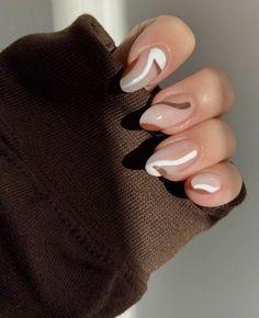 Best Acrylic Nails, Acrylic Nail Designs, Brown Nail Designs, Acrylic Art, Simple Acrylic Nails, Pastel Nails, Cute Nail Designs, Nagellack Design, Acylic Nails