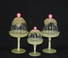 New Designs - TheColorfulWife.com  domed cupcake dishes