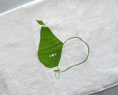 Screenprinted Pears tea towel  $12.00