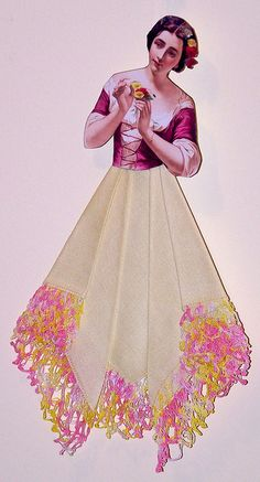 hankie paper doll - lots of examples on http://www.flickr.com/photos/terramarie/