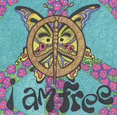 I am Free Singleton Hippie Art The Print by justgivemepeace