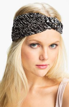 Cara Accessories 'Super Sequin' Head Wrap available at #Nordstrom 38.00 very cute