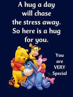 Winnie the Pooh Eeyore Quotes, Hug Quotes, Winnie The Pooh Quotes, Snoopy Quotes, Motivational Quotes, Funny Quotes, Inspirational Quotes, Cute Good Morning Quotes, Good Night Quotes