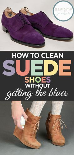 Learn how to clean suede shoes with this step by step instructional article designed to help you clean suede shoes without getting the blues. Cleaning tools and instructions on how to protect your suede shoes. Clean Suede Shoes, How To Clean Suede, Blue Suede Shoes, Black Suede Boots, Suede Sneakers, Leather Shoes, Suede Shoe Cleaner, Designer Shoes, Designer Bags